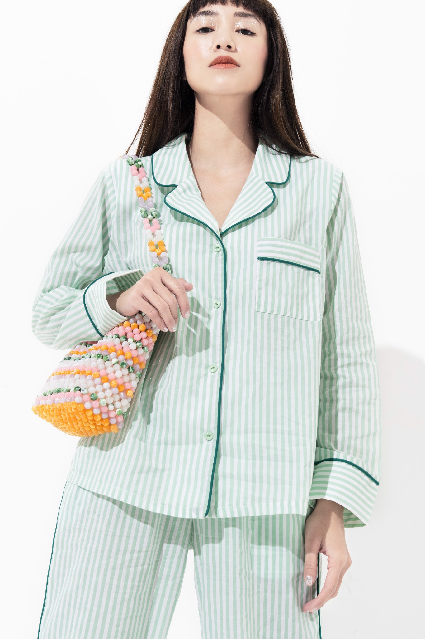 HOME SWEET HOME PJ SHIRT - MINT TEA