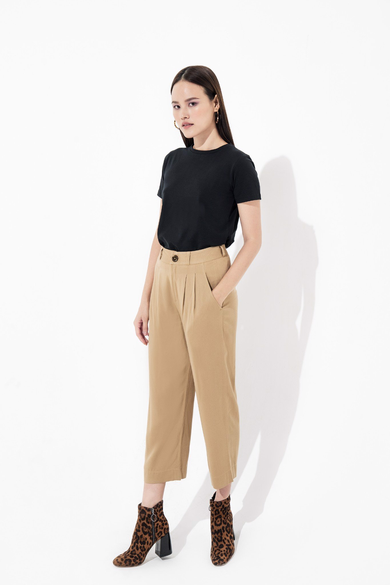 WIDE LEG PANTS CAMEL
