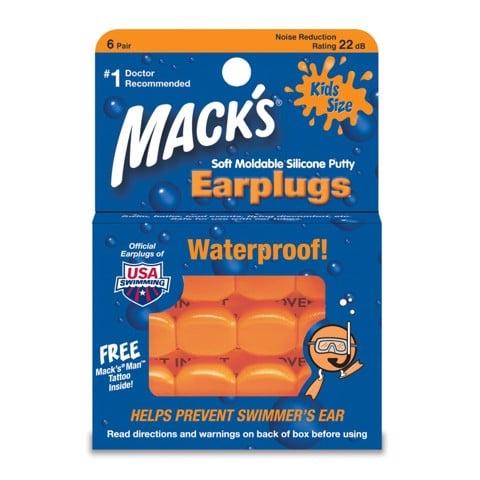 Bộ 6 bịt tai bơi trẻ em Mack's Mỹ chính hãng