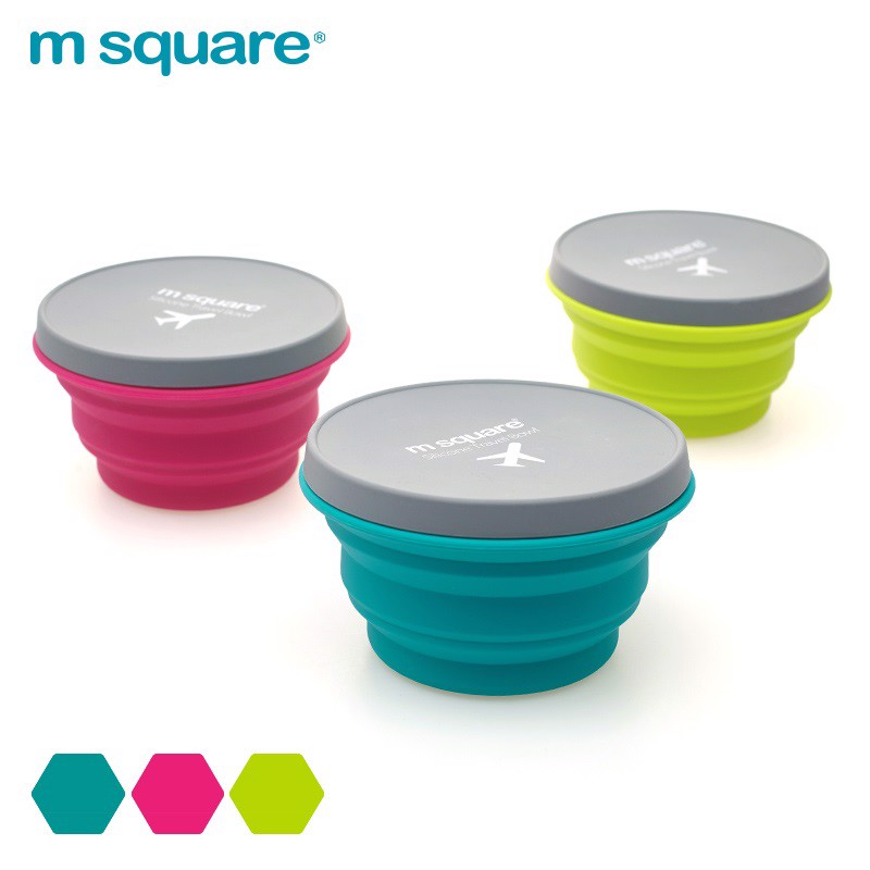 Cốc du lịch gấp gọn Silicon Msquare size S L XL