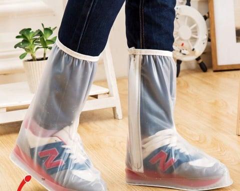 Bọc giày đi mưa cổ cao nam nữ hot 2018