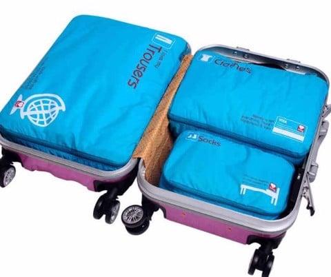 Sét 3 túi đựng quần áo du lịch công tác GOX