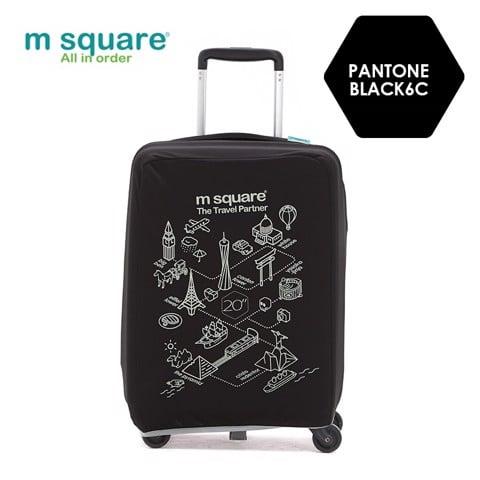 Túi vải bọc vali Msquare M0585 20' 24' 28' Đen