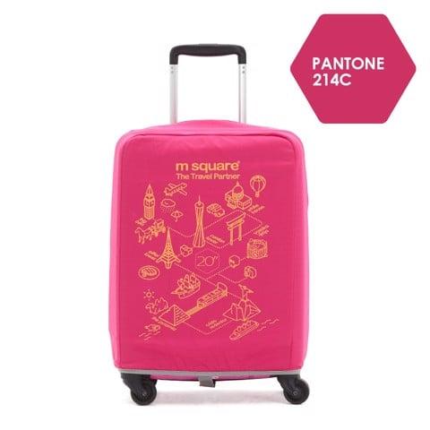 Túi vải bọc vali Msquare M0586 20' 24' 28' Hồng