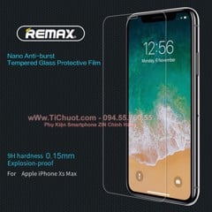 Kính CL iPhone XS MAX REMAX mỏng 0.15mm (Ko Full)