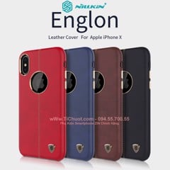 Ốp lưng da iPhone X Nillkin Englon Leather