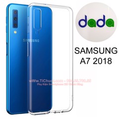 Ốp lưng Samsung A7 2018 Dada Dẻo trong suốt