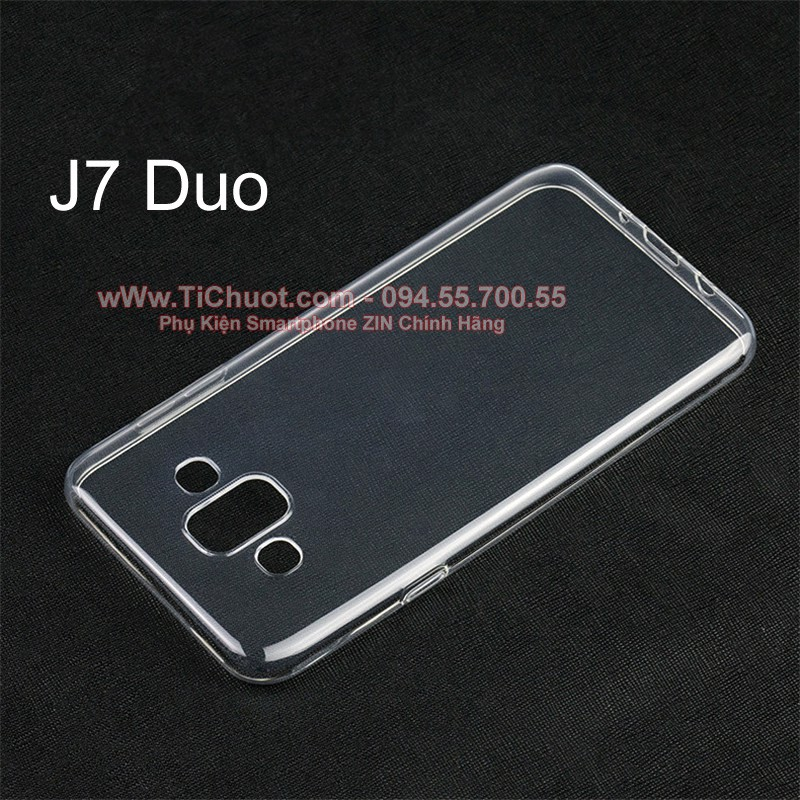 Ốp lưng Samsung J7 Duo Dada Dẻo trong suốt