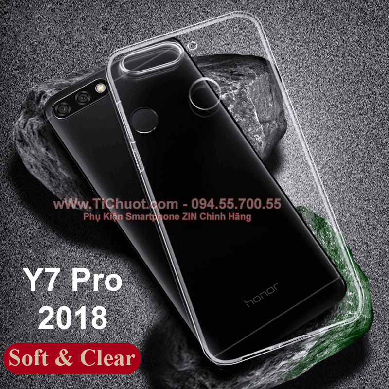 Ốp lưng Huawei Y7 Prime 2018 Dada Case Dẻo trong suốt
