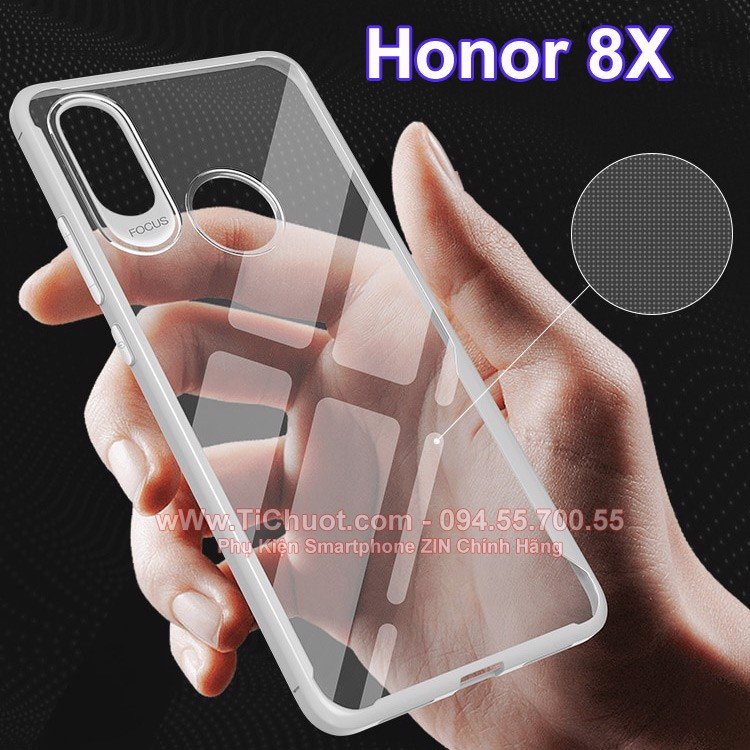 Ốp lưng Honor 8X dẻo trong suốt chống sốc Focus Case