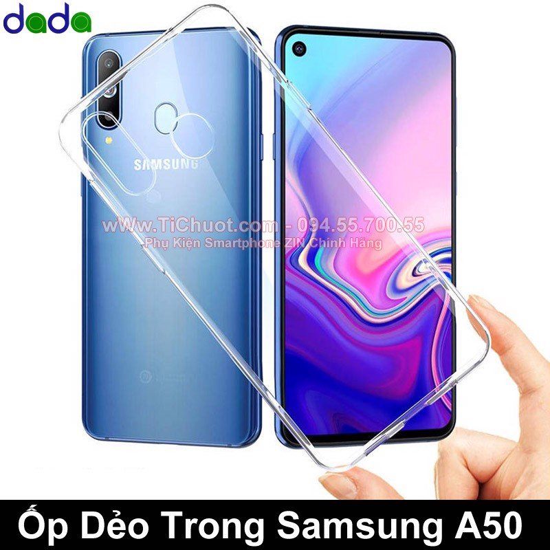 Ốp lưng Samsung A50 Dada Dẻo trong suốt