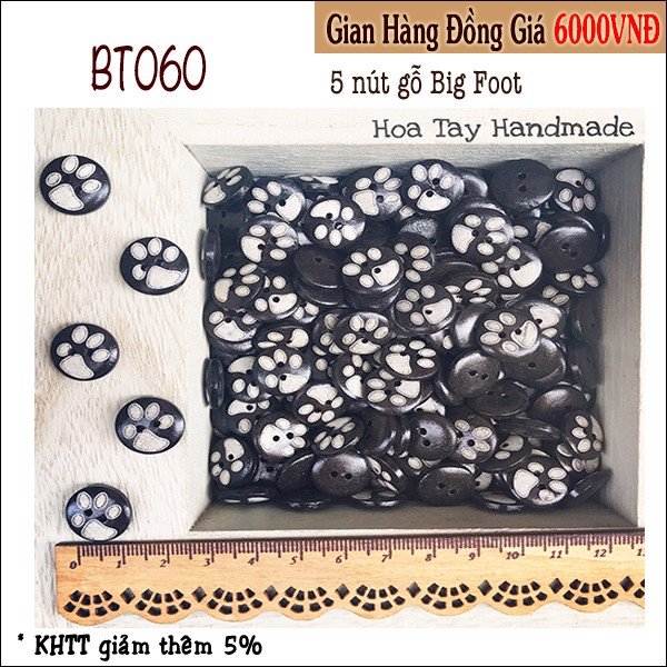 Nút gỗ Big Foot BT060