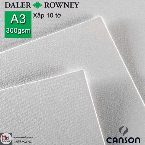 Canson Daler Rowney 300gsm A3 (xấp 10 tờ)