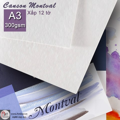 Canson Montval 300gsm A3 (quyển 12 tờ)