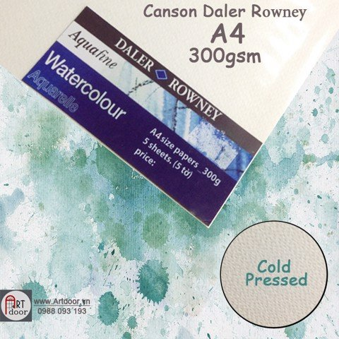 Xấp lẻ Canson Daler Rowney A4 300gsm (5 tờ)