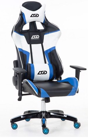 Ghế Chơi Games PlayChair 2700 Black-Blue-White LGD