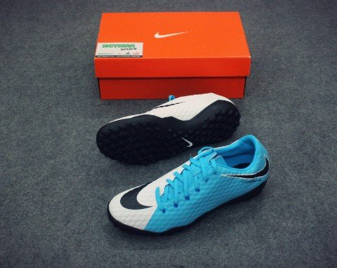 NIKE HYPERVENOM PHELON III TF WHITE/BLACK/PHOTO BLUE