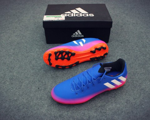 ADIDAS MESSI 16.3 AG BLUE/WHITE/SOLAR ORANGE