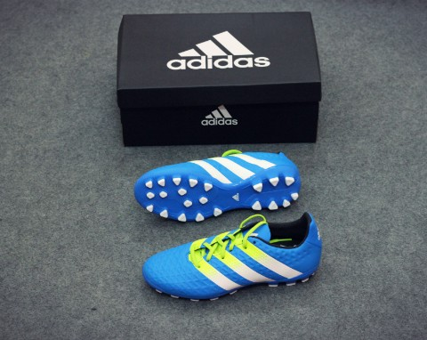 adidas ACE 16.3 AG White/Semi Solar Slime/Shock Mint