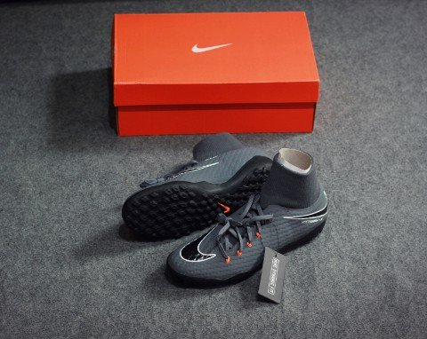 Nike Hypervenom PhantomX 3 Academy DF TF Fast AF - Dark Grey/Total Orange/White