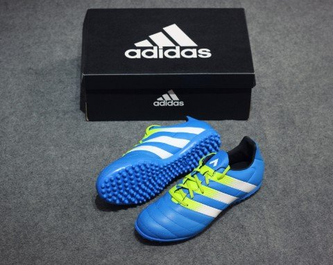 ADIDAS ACE 16.3 Leather TF SHOCK BLUE/SEMI SOLAR SLIME/WHITE