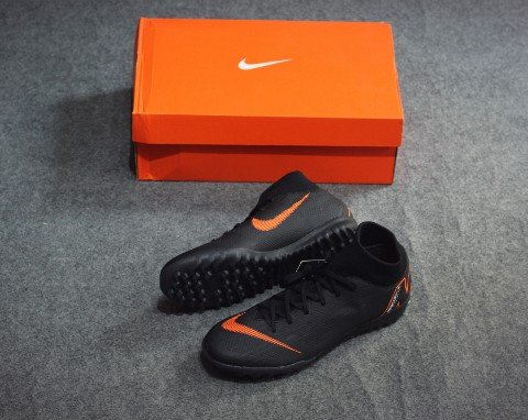 Nike Mercurial SuperflyX 6 Academy TF Fast AF - Black/Total Orange/White