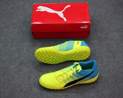 Puma EVOPOWER 4.3 TF - Safety Yellow/Black/Atomic Blue