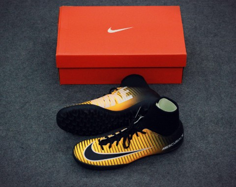 Nike MercurialX Victory VI DF TF Lock in. Let loose. - Laser Orange/Black/White
