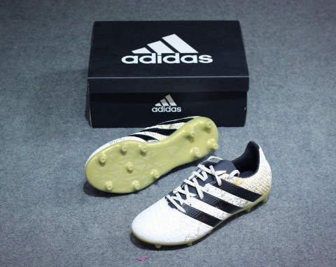 Adidas ACE 16.3 FG/AG - White/ Gold Metallic/ Core Black