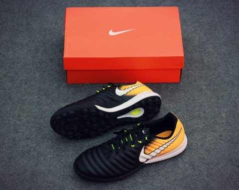 Nike TiempoX Finale TF Lock in. Let loose. - Black/White/Laser Orange