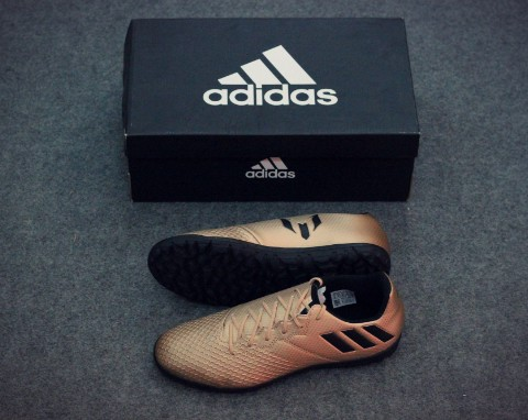 adidas Messi 16.3 JR TF Turbocharge - Copper Metallic/Core Black/Solar Green