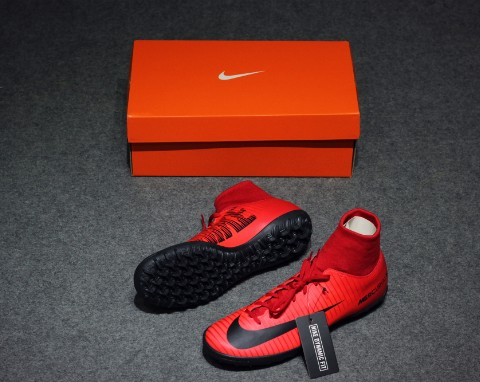 Nike Mercurial Victory VI DF TF Fire - University Red/Black