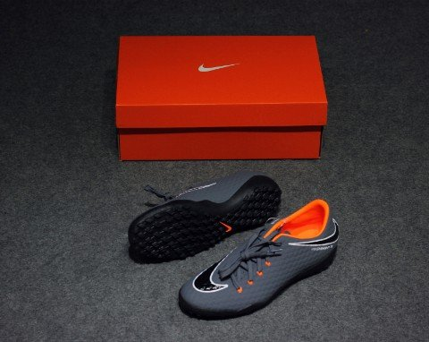 Nike Hypervenom PhantomX 3 Academy TF Fast AF - Dark Grey/Total Orange/White