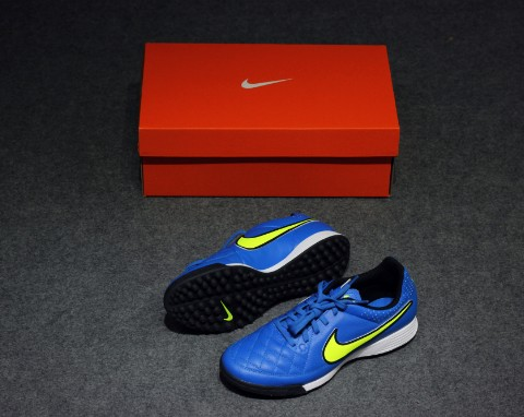 Nike Tiempo Genio Leather TF - Soar/Volt/Black