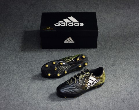 Adidas X 16.3 Leather FG-Black/White/Gold