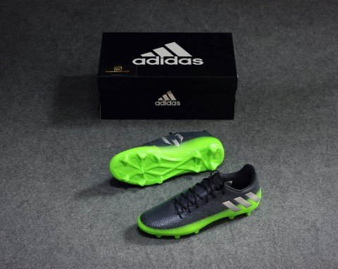 Adidas Messi 16.3 FG/AG - Dark Grey/Silver Metallic/Solar Green