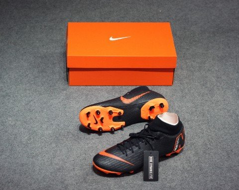 NIKE MERCURIAL SUPERFLYX 6 ACADEMY MG FAST AF - BLACK/TOTAL ORANGE/WHITE