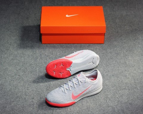 Nike Mercurial VaporX 12 Pro IC Raised On Concrete - Wolf Grey/Light Crimson