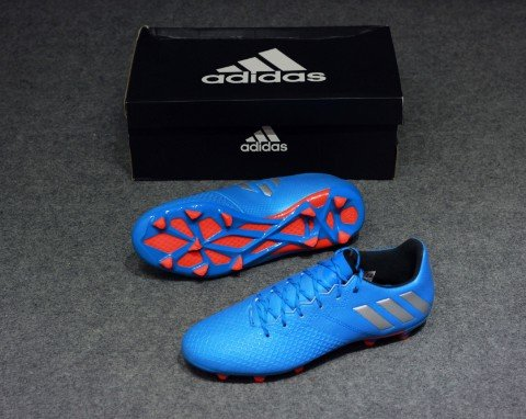 Adidas Messi 16.3 FG/AG- Shock Blue/Metallic Silver/Black
