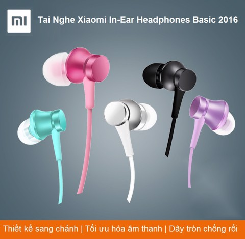 Tai Nghe Xiaomi In-Ear Headphones Basic 2017