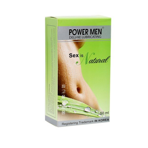 Gel bôi trơn Powermen Natural, chai 50ml