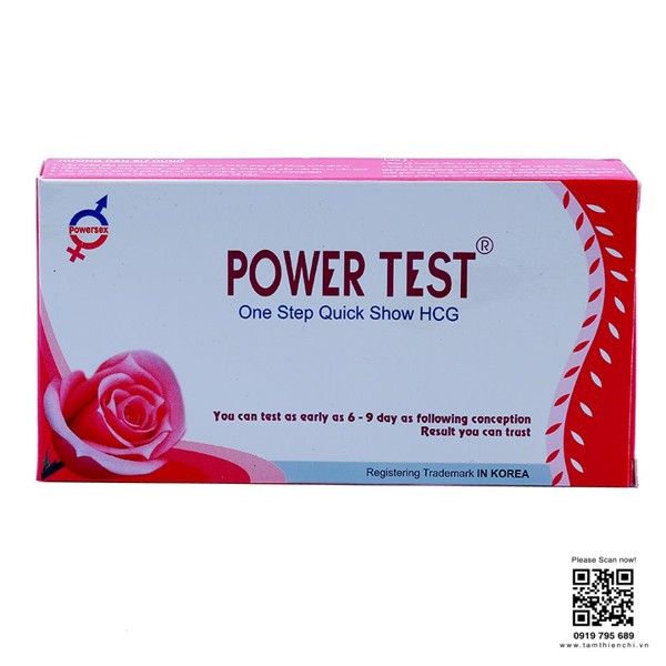 Que thử thai hCG Powertest hộp 1 test