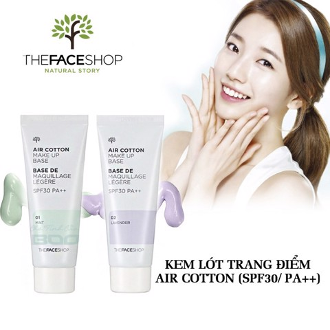 KEM LÓT THE FACE SHOP AIR COTTON MAKE UP BASE TR055