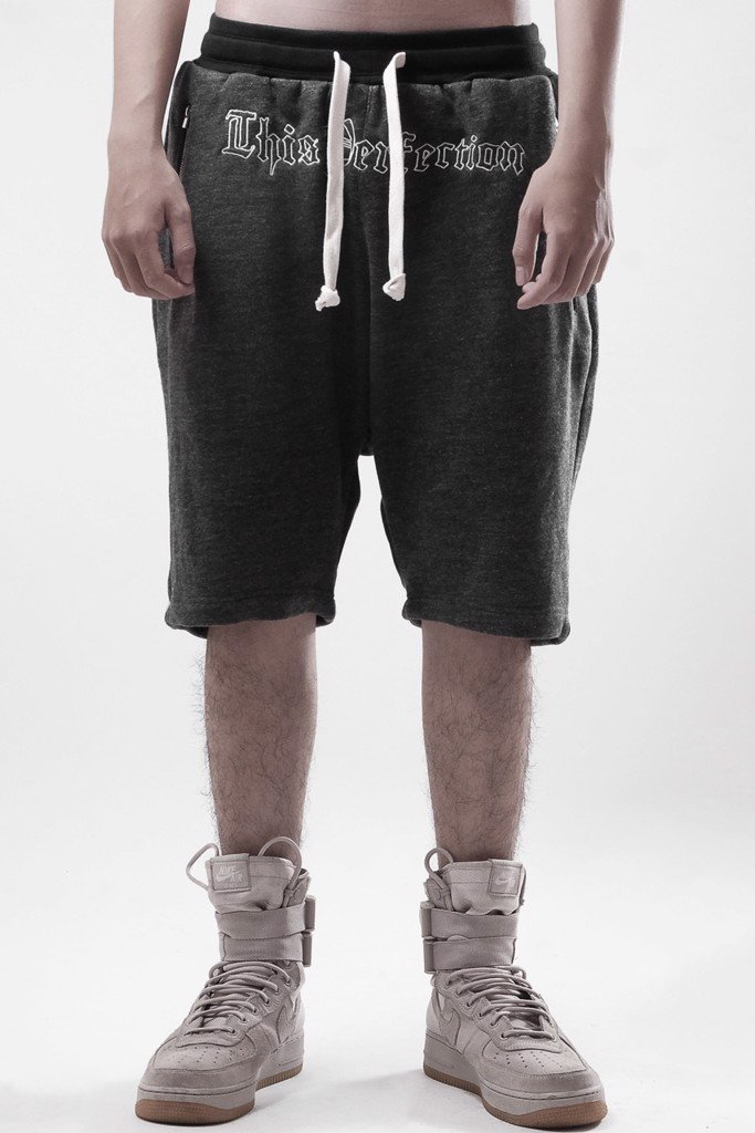 PERFECTION DROP CROTH SHORT D.GREY