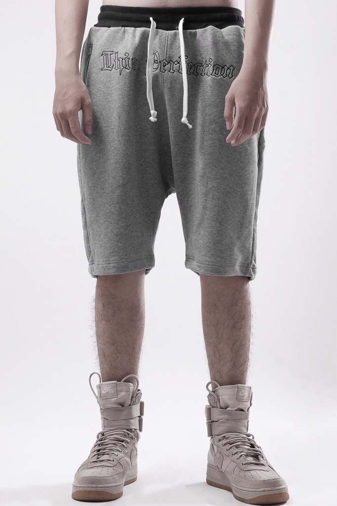 PERFECTION DROP CROTH SHORT L.GREY