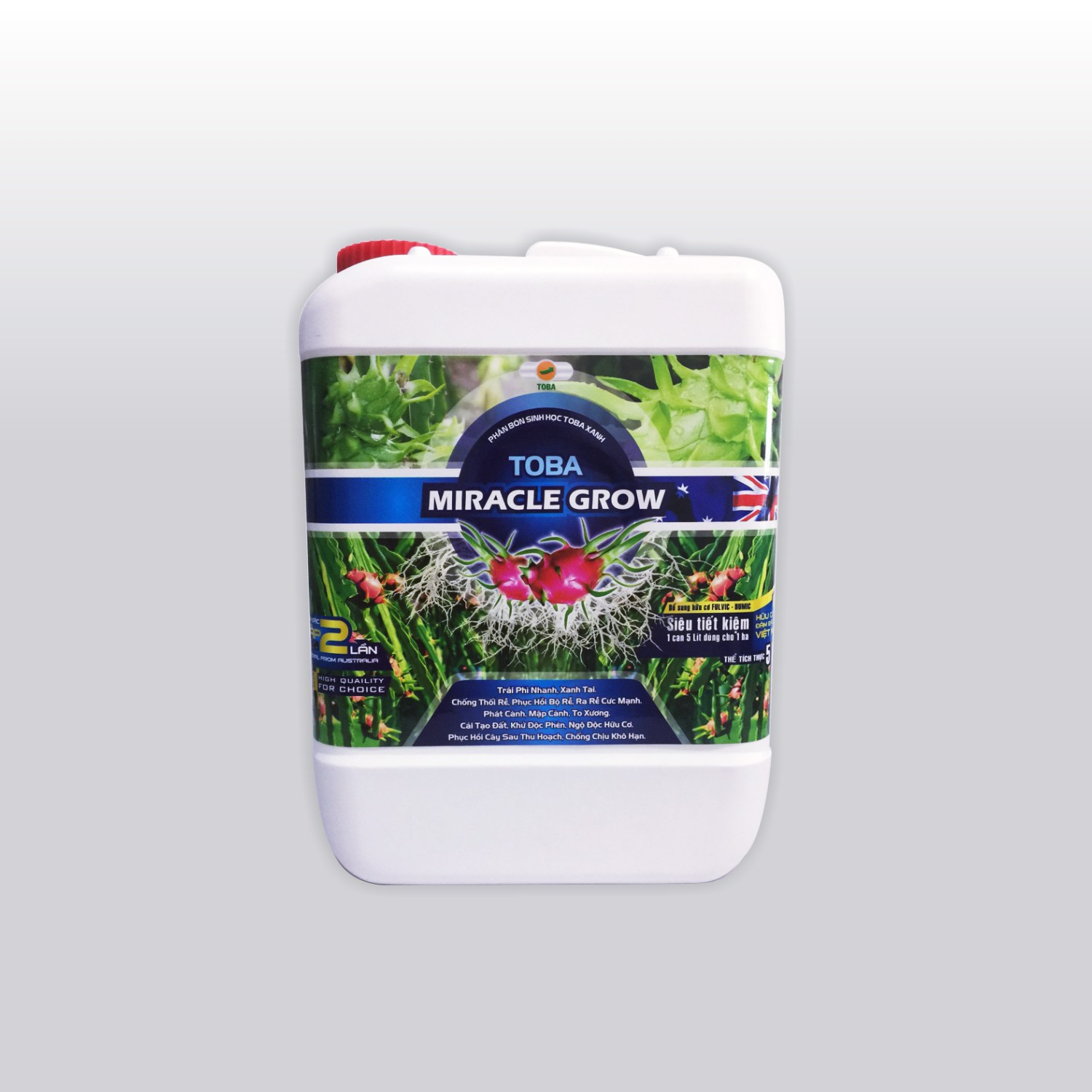 TOBA MICRACLE GROW - THANH LONG - Can 5 Lít
