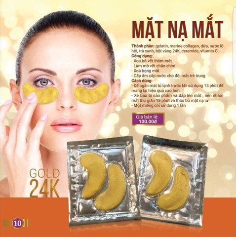 Nạ mắt Gold24k Natural Spa