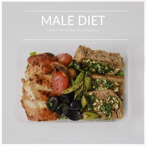 Male diet 2 meals/day