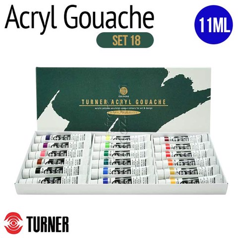 Màu Turner Acryl Gouache tuýp 11ml, set 18