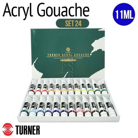 Màu Turner Acryl Gouache tuýp 11ml, set 24